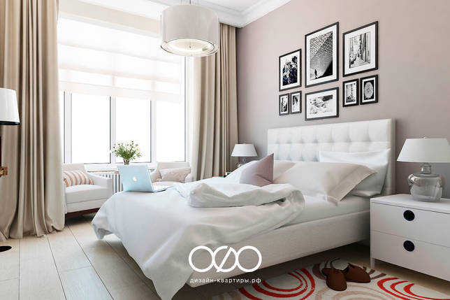 Бежевый цвет в спальне