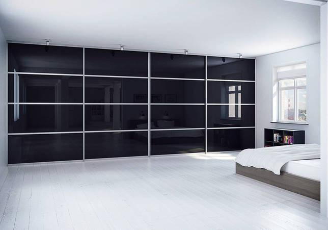 Как выбрать встроенный шкаф купе в спальню: 58 фото, дизайн внутри с размерами