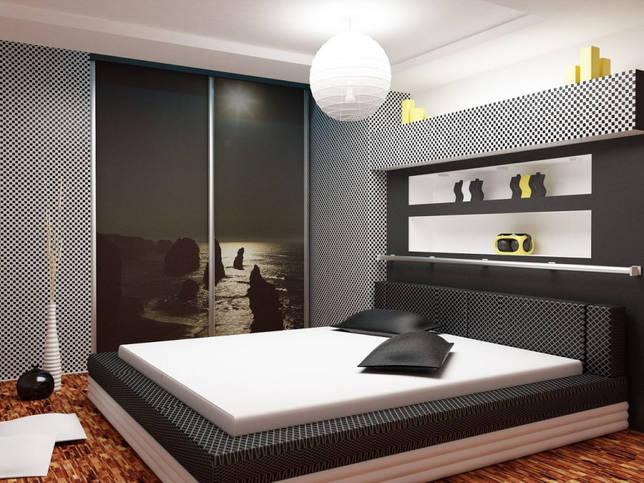 Именно встроенный шкаф купе в спальне позволяет экономить место в комнате