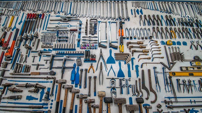 Ящик с инструментами в качестве подарка на 23 февраля