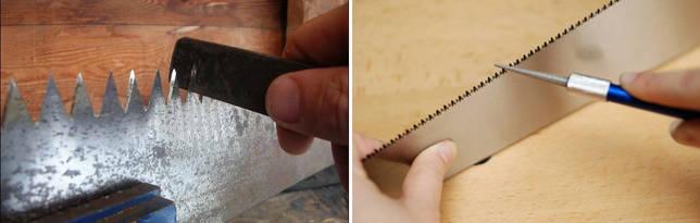 Заточка ножовки по дереву своими руками напильником: особенности и порядок процедуры